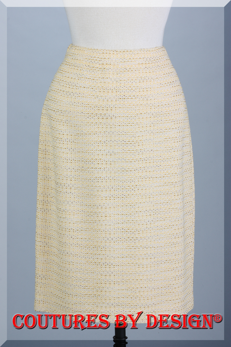 f515d39d0f Details about St John Knits White Label Novelty Knit Skirt Color Yellow  Multi Size 6 NWT